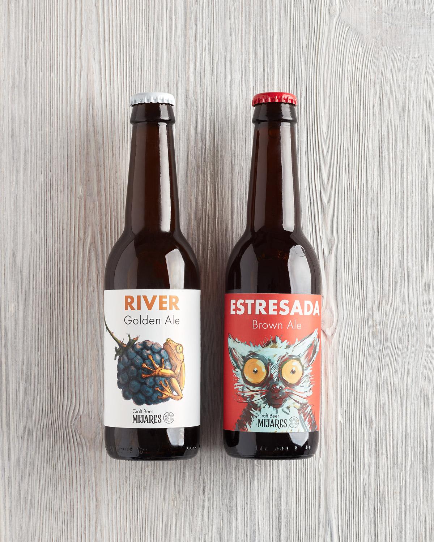 pack cerveza española mixta golden ale y brown ale