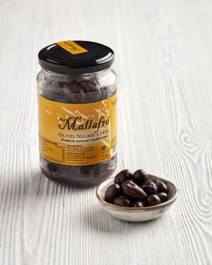 olivas negras de Aragón al aceite de oliva